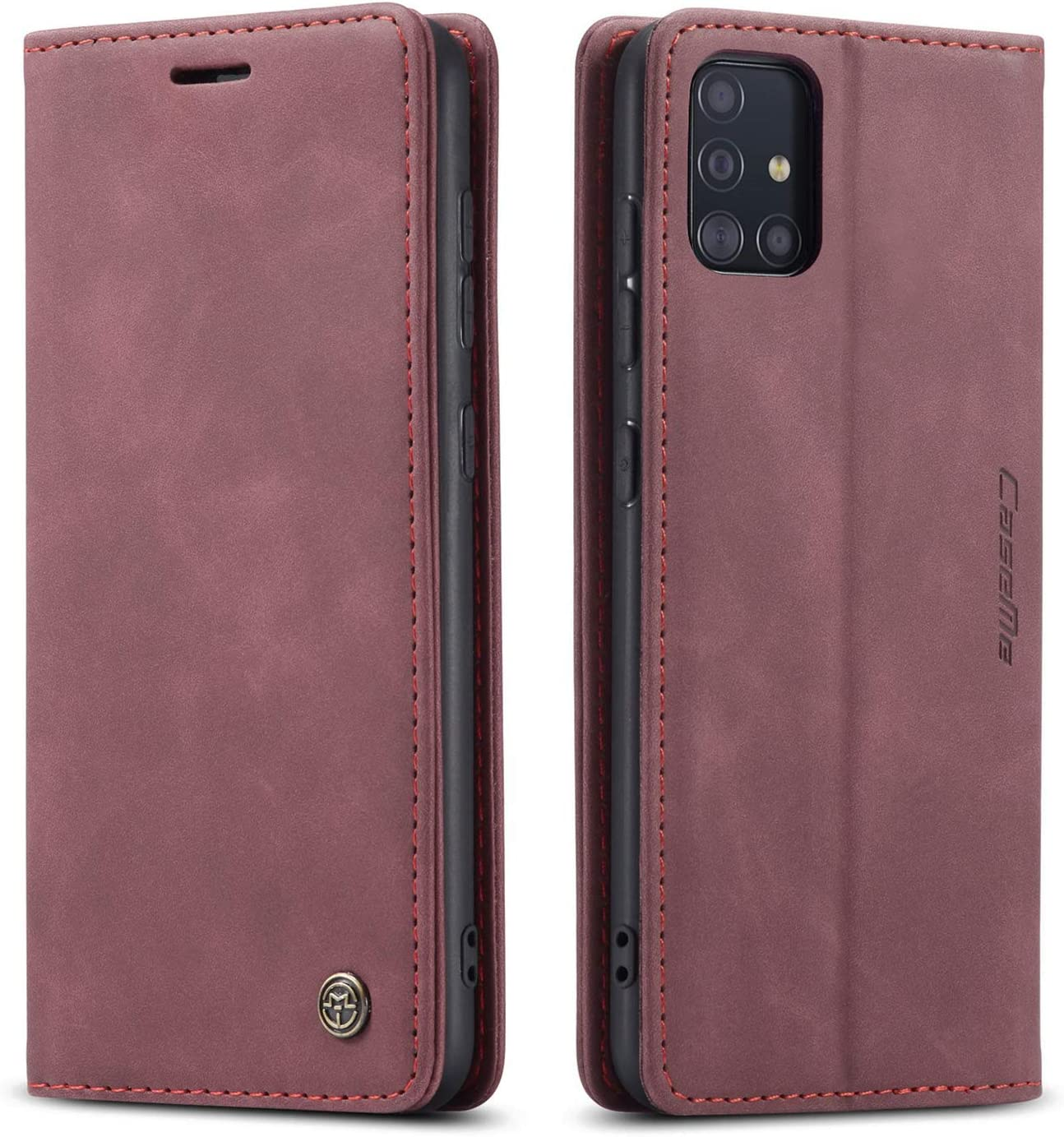 Samsung Galaxy A71 5G Case,Samsung A71 5G Wallet Case with Card Holder Kickstand Magnetic,Leather Flip Case Wallet for Samsung Galaxy A71 5G 6.7 Inch (Wine Red)