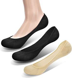 Closemate Womens No Show Socks Liner Loafer Non Slip Invisible Casual Socks for Flats 6 Pairs