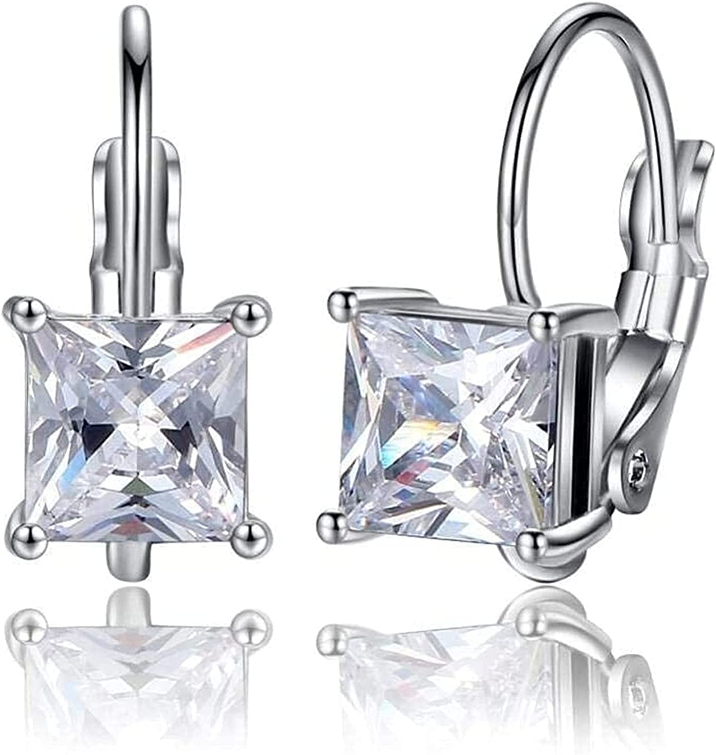 JoHUAZ Exquisite Ladies Earrings Personalized Earrings Imitated Crystal Prismatic Ear Rings Imitated Zircon Ear Clips Colorful Earrings Exquisite/AProduct Code: WW 812 (Color : D) (Color : D)