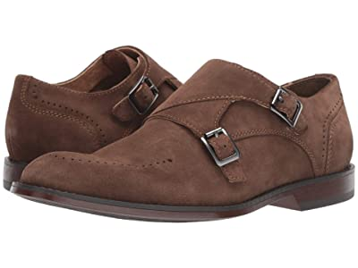 Stacy Adams Wentworth Plain Toe Double Monk Strap (Tobacco Suede) Men