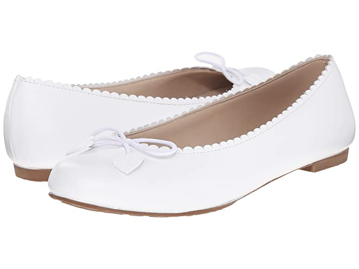 Elephantito  Scalloped Ballerina (Toddler/Little Kid/Big Kid) (White) Girls Shoes