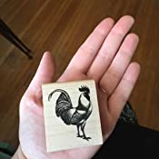 Rooster Self Inking Rubber Stamp A-6114 StampExpression Black Ink