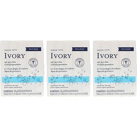 Ivory Soap, Original 4 oz Bars 10 ea (Pack of 3)