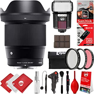Sigma 16mm f1. 4DC DN Contemporaryレンズ+ 18pcキットfor Sony EマウントDSLRカメラAlpha a7Alpha a7r II Alphaアルファアルファa7a7II a7s II I...
