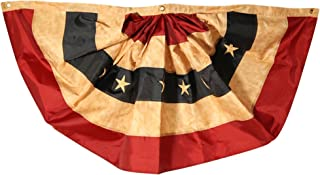 Tea Stained American Flag Embroidered Grommet Flag USA 3/' x 5/' Briarwood Lane