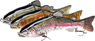 Bassdash Swimbaits Pike Trout Glide Baits Minnow Hard Bass Fishing Lure 7.2in/8in