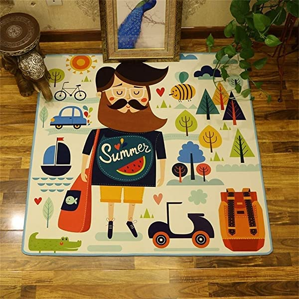 Rug Flannel Crystal Super Soft No Mites Non Slip Baby S Kids Crawl Mat Boy S Girl S Game Pad Size 200x200cm