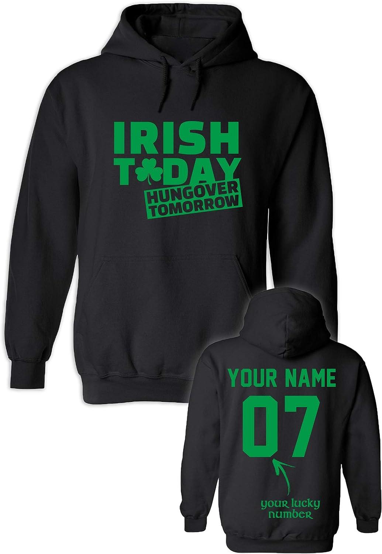 Custom 定価 Hoodies for St. Patrick's Day 公式ショップ Add Name Hoode Number -