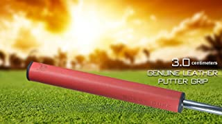 Bobbyduke LLC Start-UP Closing!! Bobby Duke Leather Non-Taper Straight MIDSIZE Putter Grip Finest Handcrafted Leather Golf Putter Replacement Grip- Midsize 3.0 Slim Fit, Stitchback, Laced Back
