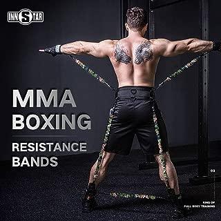 INNSTAR MMA Boxing Training Resistance Band Set Enhance Explosive Power Strength Training Equipment for Muay Thai,Karate Combat,Fitness,Basketball,Volleyball,Football Men&Women