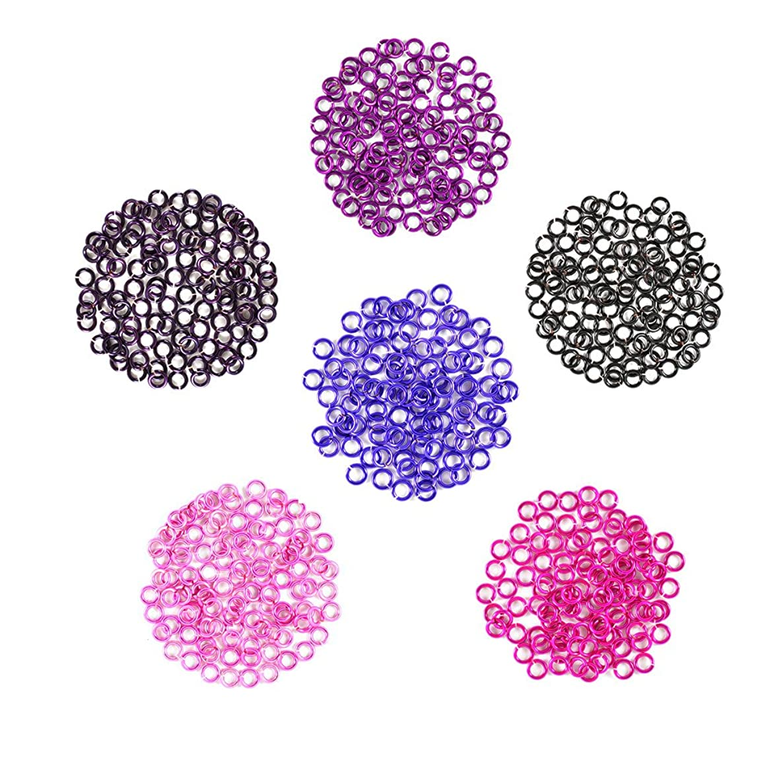 Berry Patch - Enameled Copper Jump Rings – 18 Gauge – 4.0mm ID - 600 Rings - Amethyst, Black, Fuchsia, Hot Pink, Lavender, Purple