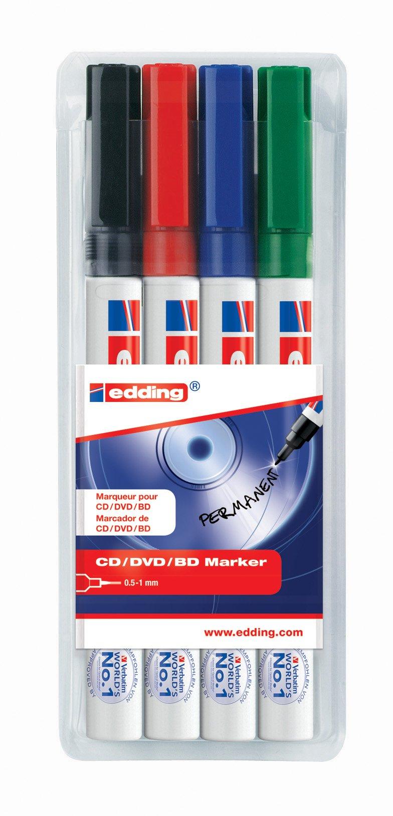 Edding 8400 CD Marker Permanent 0.75mm Line Black Ref 8400-001 Pack of 10