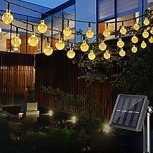 Cosumina Outdoors Globe Solar String Lights 23ft 50 LED Outdoor Bulb String Lights,Waterproof 8 Modes Solar Patio Lights f...