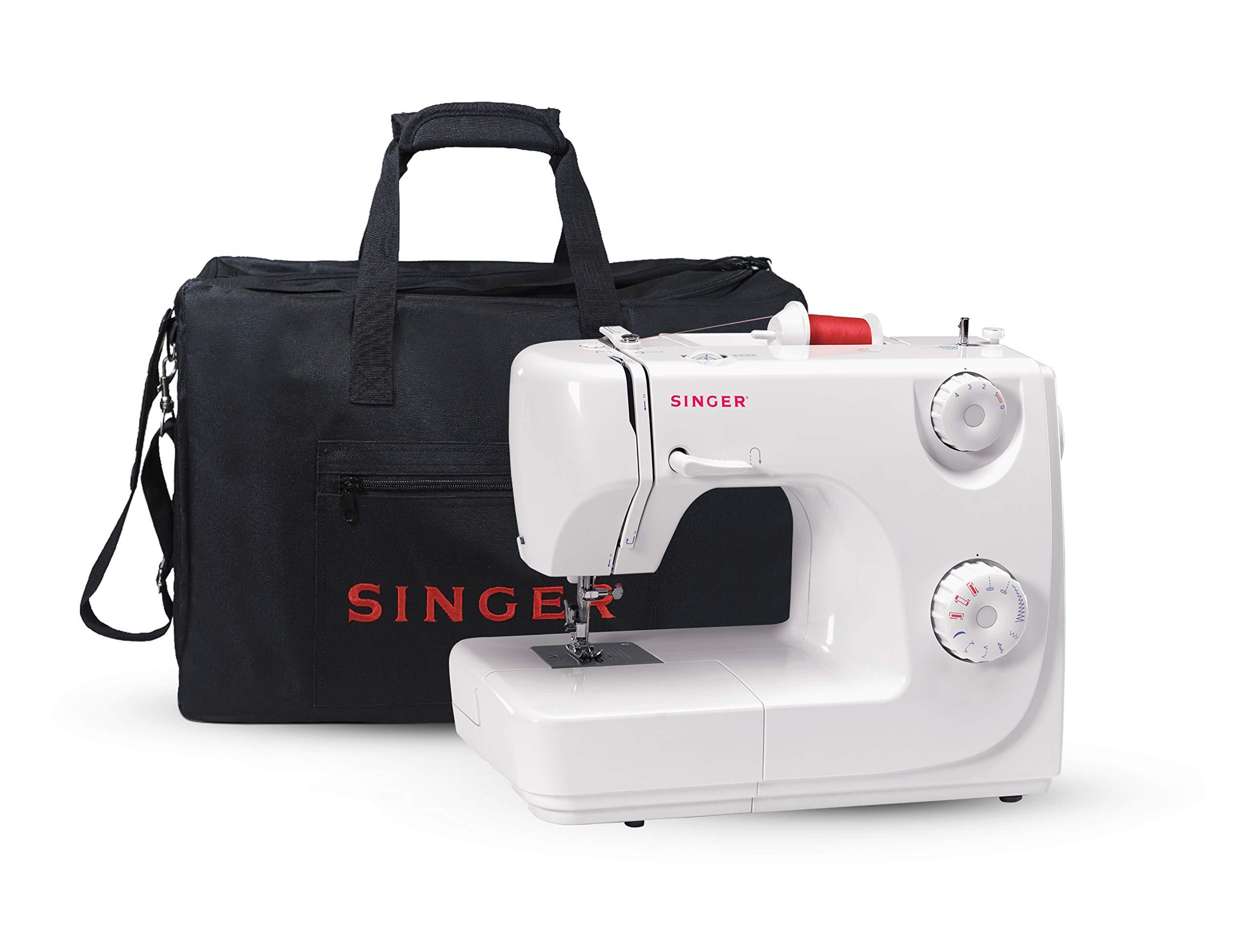 Singer 8280 - Máquina de coser automática, 8 puntadas, color blanco + Funda Singer para máquina de coser, color negro: Amazon.es: Hogar