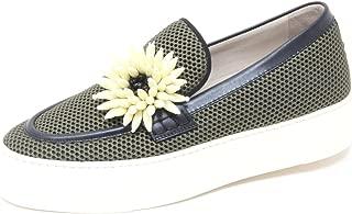 4224P scarpa senza lacci zeppa UNO 8 UNO nero scarpa donna shoe woman