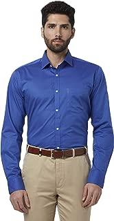Park Avenue Solid Cotton Dark Blue Slim Fit Cutaway Collar Full Sleeve Shirt
