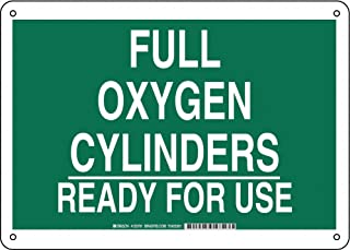 oxygen cylinder warning signs