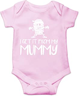 AW Fashions I Get It from My Mummy - Mom's Little Boo - Funny Halloween One-Piece Infant Baby Bodysuit
