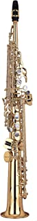 Kaizer Soprano Saxophone Straight B Flat Bb Intermediate Gold Lacquer Includes Case Mouthpiece and Accessories SSAX-3000LQ