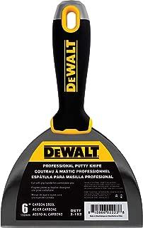 DEWALT 6-Inch Putty Knife   Carbon Steel w/Soft Grip Handle   DXTT-2-152