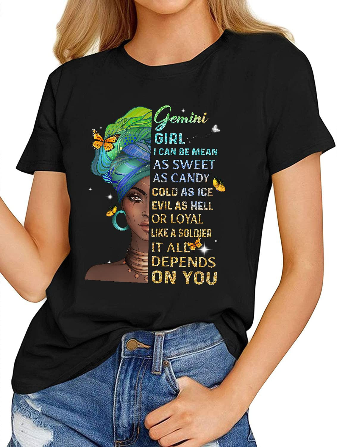 Birthday Gemini Shirts Gift Excellent Girl Wom or May June Regular store