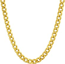 Lifetime Jewelry 5mm Cuban Link Chain - Gold Necklace for Women Men Teen Girls & Boys - 20X More 24k Real Gold Than Other Plated Miami Curb Links - Free Lifetime Replacement Guarantee 16-30 inches