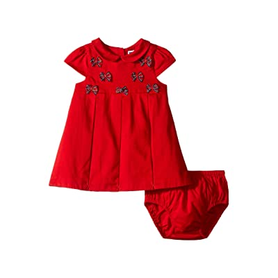 Janie and Jack Cap Sleeve Dress (Infant) (Red Bow) Girl