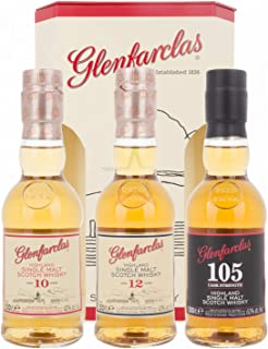 Glenfarclas Miniset 10 YO, 12 YO, 105 mit Geschenkverpackung Whisky 3 x 0.2 l