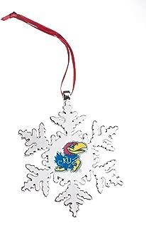 Collegiate Pulse Kansas Jayhawks NCAA Snowflake Christmas Ornament
