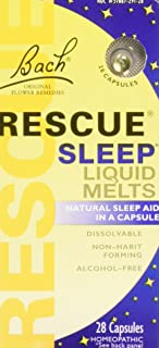 Bach Rescue Sleep Liquid Melts, Dissolvable Capsules 28 ea