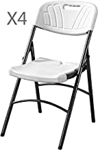 LANNY Set of 4 Folding Dining Chair White Y037