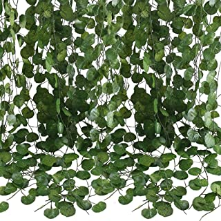 84 Feet Artificial Vines Greenery Garlands Fake Hanging Plants Vine Faux Green Leaves Garland for Wall Party Wedding Room ...
