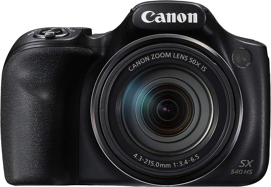"Canon PowerShot SX540 HS - Cámara digital de 20.3 Mp (pantalla de 3"" zoom óptico de 50x NFC WiFi) negro"