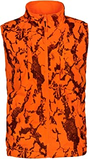 Natural Gear Reversible Blaze Camo Safety Vest, Orange Hunting and Safety Vest