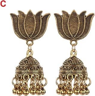 1 Pair New Arrival Vintage Indian Bohemian Peacock Ear Drop Dangle Earrings For Women Beaded Tassel; Earring Gypsy Retro Jewelry