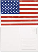 Best Paper Greetings Blank Postcards of American Flag Card (4 x 6 in, 40 Pack)