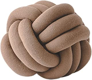 "THEE Creative Knot Ball Cushion Sofa Lumbar Pillow Chair Back Cushion Throw Pillow Decoration Diameter About 10"""