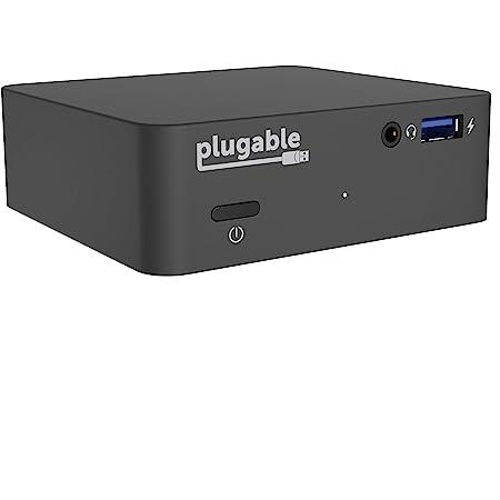 Plugable USB-C ドッキングステーション 85W 充電機能付き コンパクトサイズ DP代替モード HDMI 有線LAN イーサネット オーディオポート USB3.0 x4 VESA モニタマウント規格対応ケース付