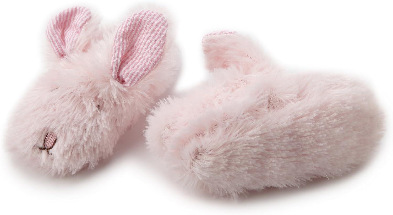 Mud Pie Baby Girls Plush Bunny Slippers