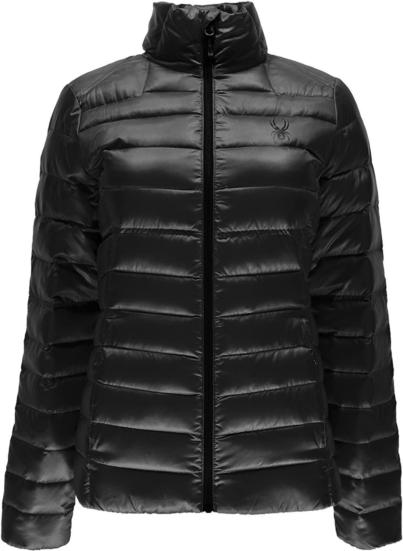 Spyder Women's Prymo Down Jacket, Black Black, XLarge