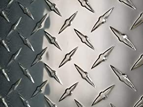 2pcs Aluminum Diamond Plate Flat Sheet .062 x 8 x 48 in UAAC