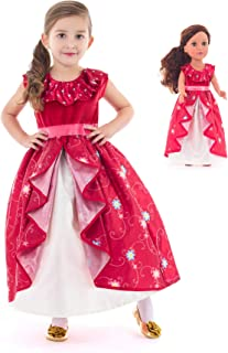 Little Adventures Spanish Princess Dress Up Costume & Matching Doll Dress (Large Age 5-7)