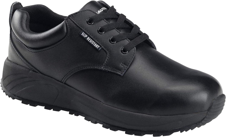 Nautilus Safety Footwear Women's SkidBuster Oxford, Black, 11 Wide