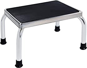 Medical Foot Step Stool with Anti-Skid Rubber Platform, Lightweight and Sturdy Chrome Stool for Children and Adults