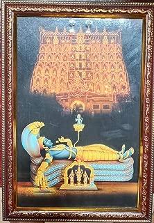 Depini 13.5 x 9.5 inches Framed Photo of Sree Padmanabha Swamy Ananthapadmanabha