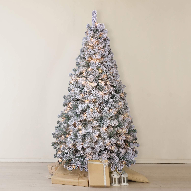 OasisCraft Snow Award-winning store Flocked Christmas Tree 6.5 with Light Rare Ft 350 Pr