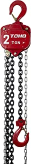 TOHO HSZ-622A OP Chain Block Hoist with Overload Protection (2 Ton, 10 Ft. Chain)