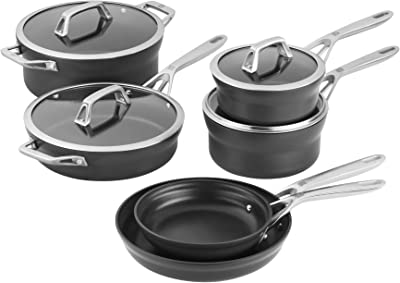 ZWILLING Motion Hard Anodized 10-pc Aluminum Nonstick Cookware Set