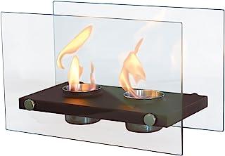 PURLINE ONIROS DUO - Biochimie de table avec double flamme et verre trempé