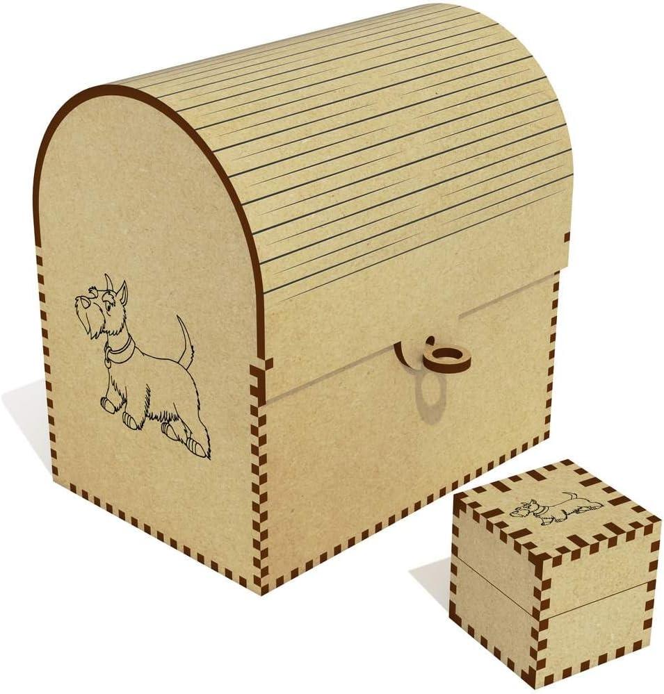 Azeeda Mail New color order 'Scottish Terrier Dog' Treasure Jewellery Chest TC00 Box